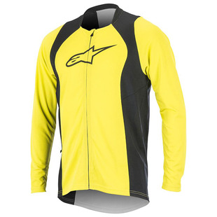 Mens Drop 2 Long Sleeve Jersey (Acid Yellow Black) 2701f71c4