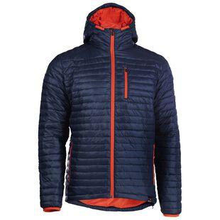 613374808b45 Mens Merino Wool Insulated Jacket (Navy Orange)