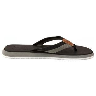 f3bbd982a0eec5 Mens Lagos Flip Flops (Black Grey)