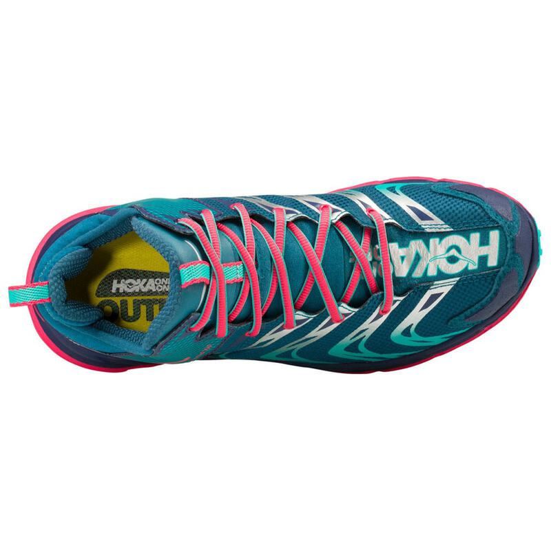f952b91b77609 Hoka One One Womens Tor Speed 2 Mid Waterproof Shoes (Blue Coral/Peaco