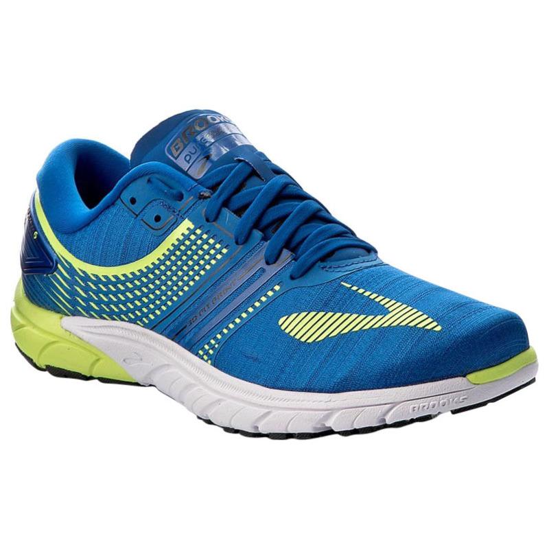 bad92935ade Brooks Mens PureCadence 6 Shoes (Nightlife Lapis Blue Black ...
