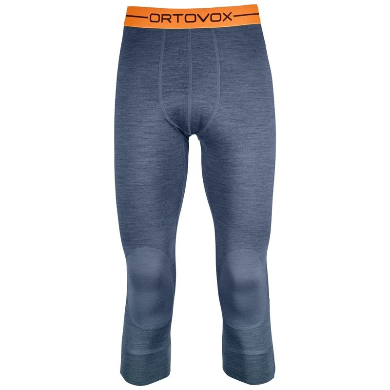 b3e1a261ec6 Ortovox Mens Merino 185 Rock `N Wool Short Tights (Night Blue Blend)