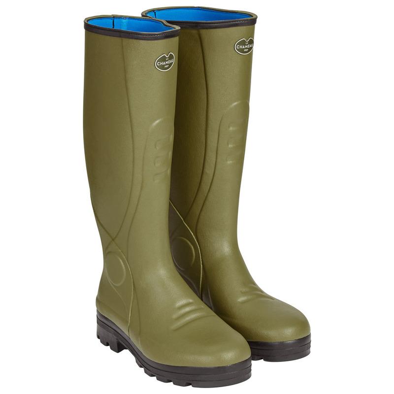 6d7aaf55822 Le Chameau Mens Traqueur Neoprene Lined Boots (Green) | Sportpursuit.c
