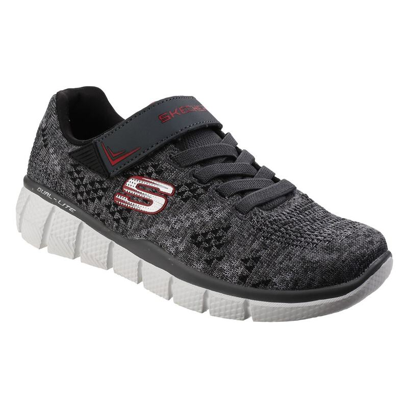 f8534b2386ad Skechers Boys Equalizer 2.0 Point Keeper Trainers (Grey Black)