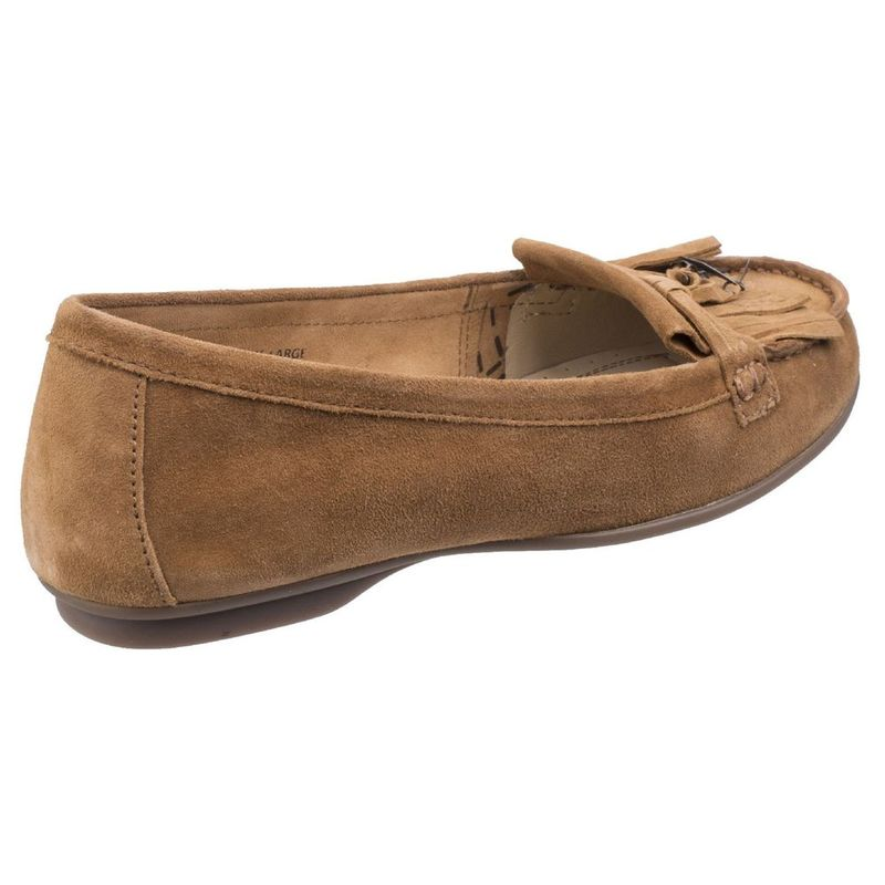 b3ba958a729 Hush Puppies Womens Naveen Robyn Slip-On Loafer Shoes (Camel)