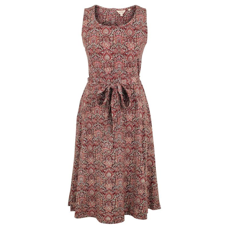 777f7864c8f6 Fat Face Womens Rosa Indian Summer Dress (Rustic Red ...
