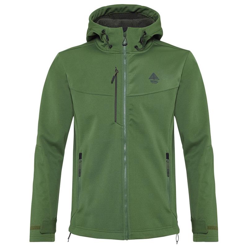 Men softshell jacket Berg Urra blue