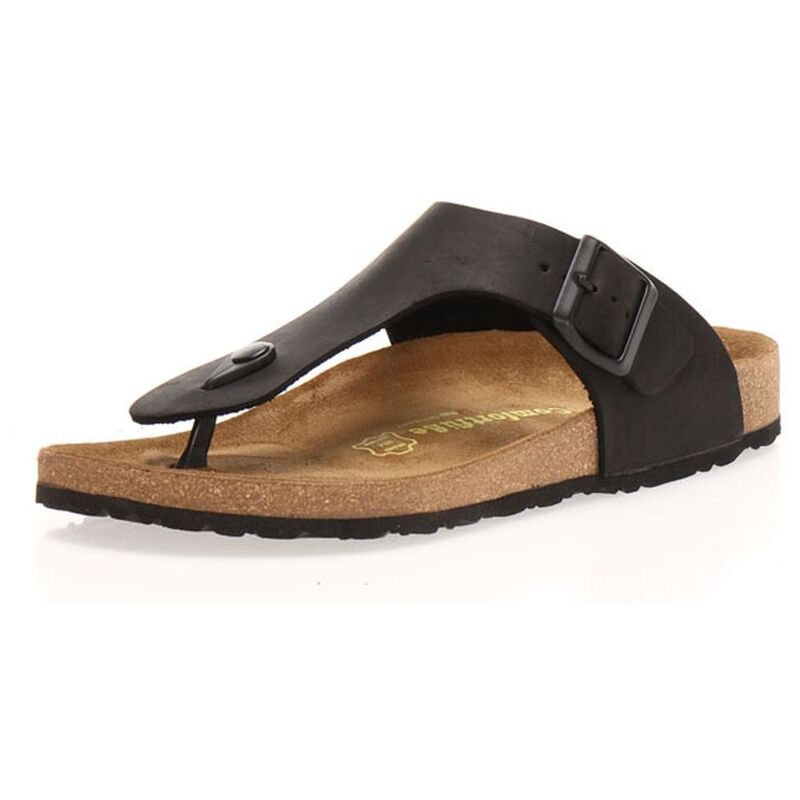 c5a0ab6ee1b8 Comfortfusse Mens Maui Sandals (Black)