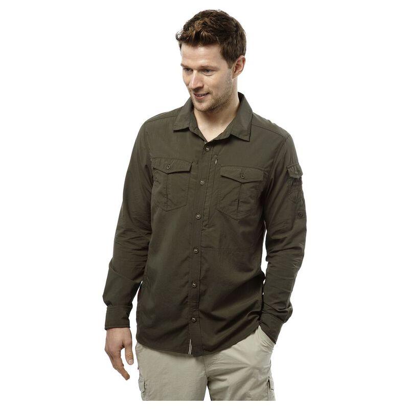 Craghoppers Khaki S Shirt NosiLife Dark Adventure Mens Long Sleeve rr0pq8