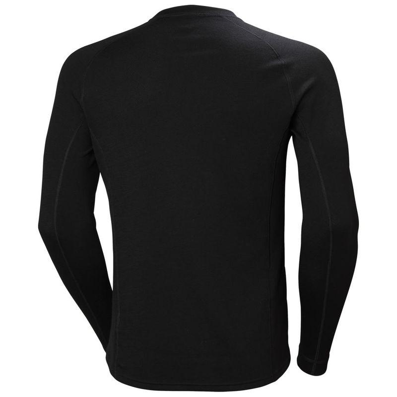 f0d7a3f469f633 Helly Hansen Mens Lifa Merino Classic Crew Long Sleeve Top (Black ...