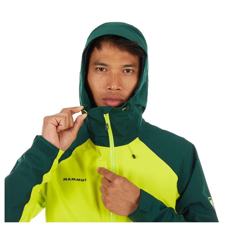 1a55260c2 Mammut Mens Convey Tour Hardshell Hooded Jacket (Canary/Dark Teal)   S