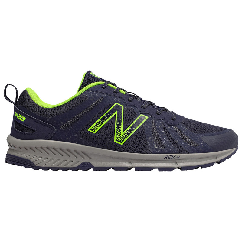 newest 86e02 34762 Mens 590 v4 Trail Shoes (Dark Blue Lime Green)