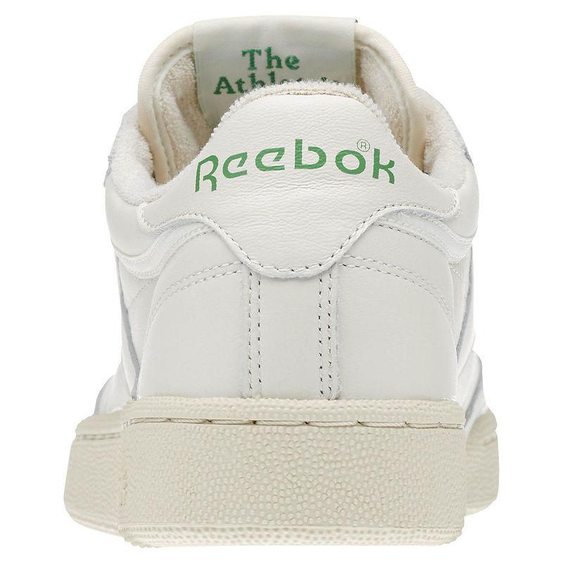 87b09c712 Reebok Mens Club C 85 Vintage Shoes (Chalk Paperwhite Glen Green Excln