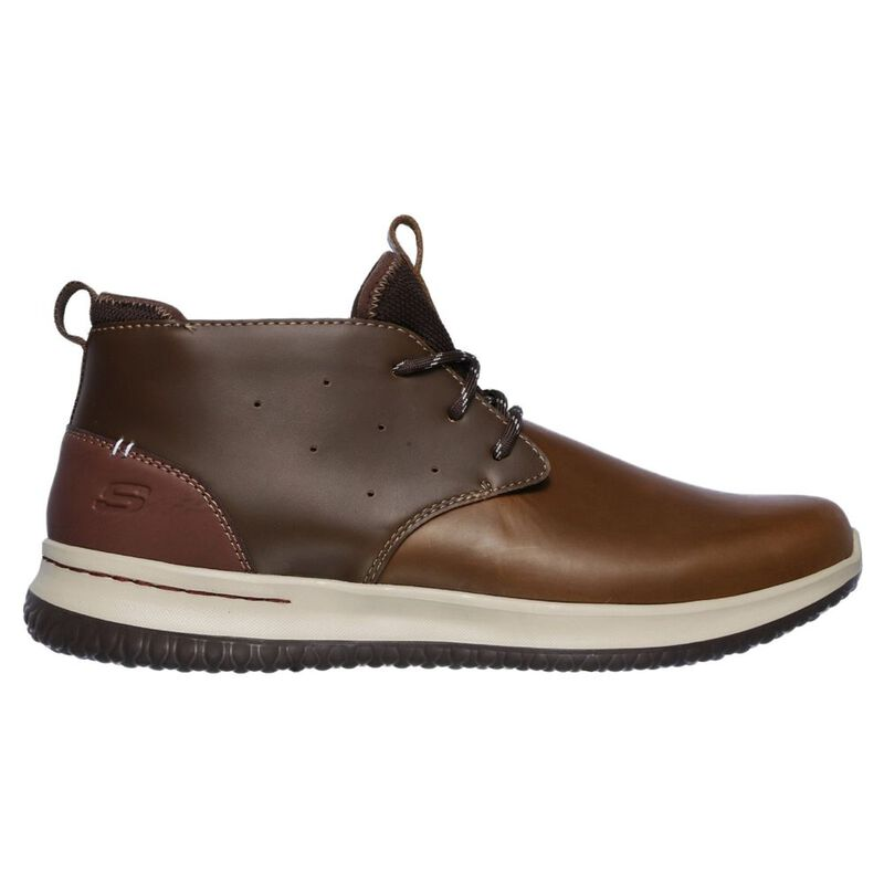 Skechers Mens Delson Clenton Chukka Boots (Brown