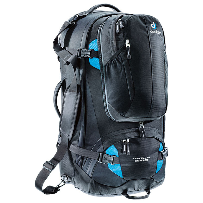 ae4bd1563acfb Deuter Womens Traveller 60L + 10L SL Travel Bag (Black Turquoise)