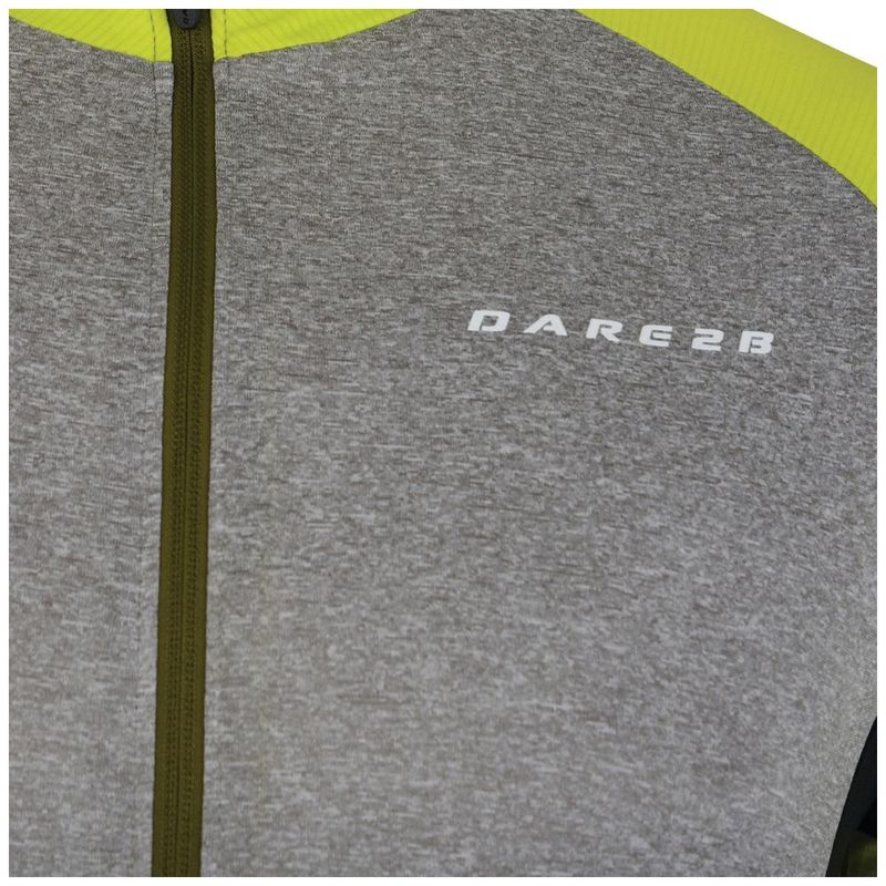 Dare2B Mens Sequal Cycle Jersey (Ash Lime Punch)  875970f1a