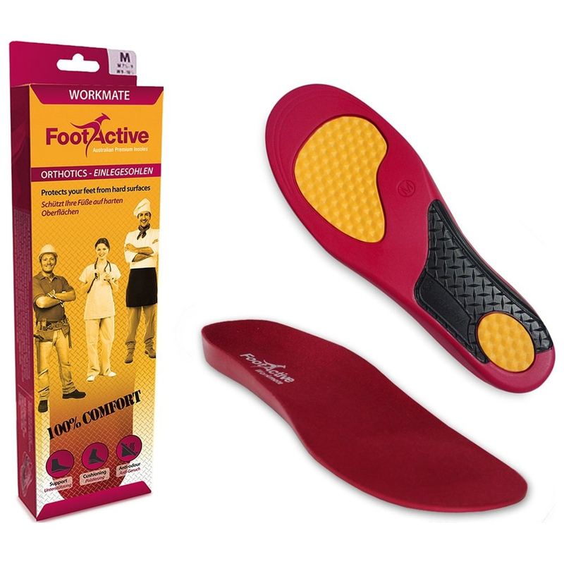 5f16a686 Footactive Workmate Innersole (Red) | Sportpursuit.com