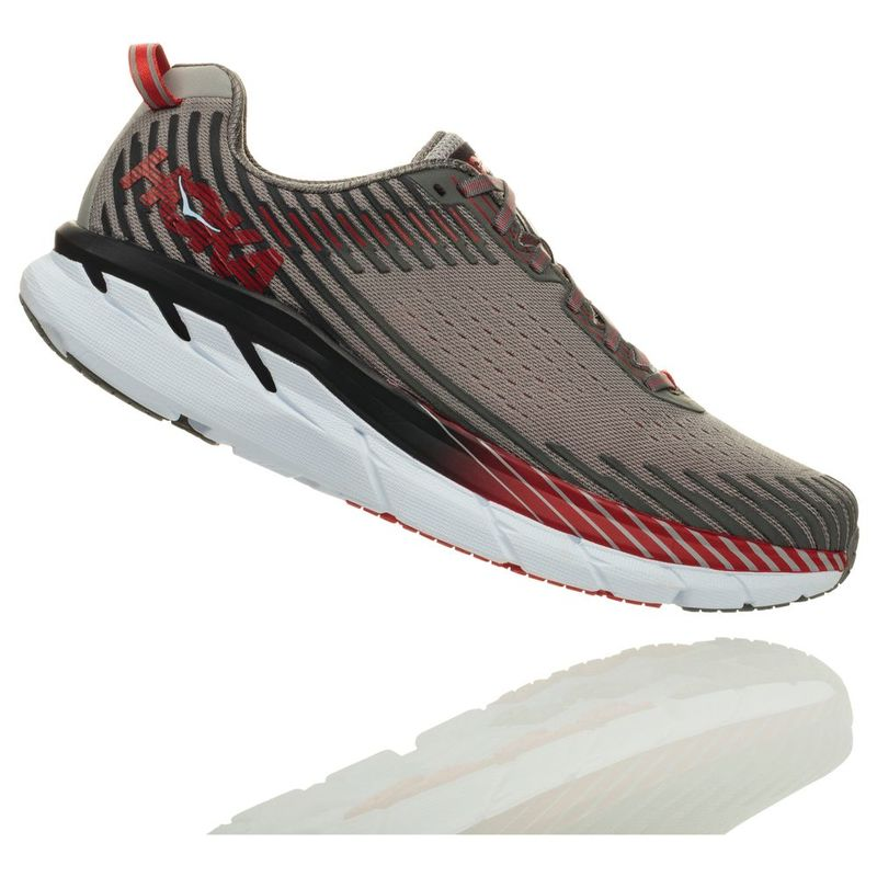 Hoka One One Mens Clifton 5 Shoes (AlloySteel Grey