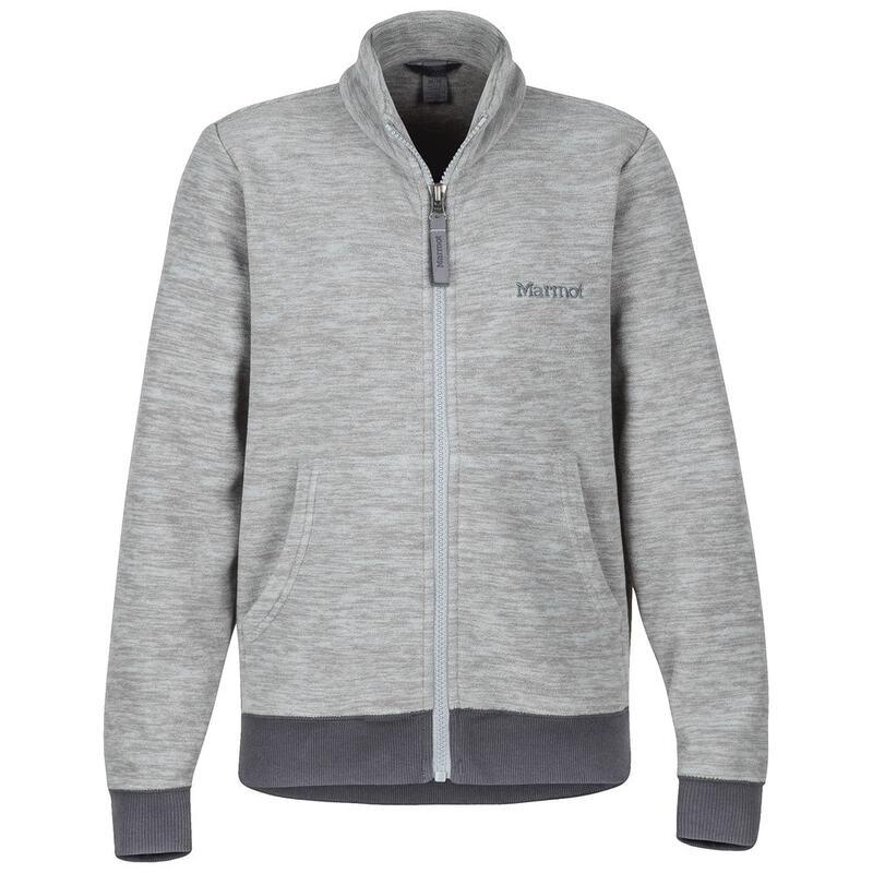 4e9368e63161 Marmot Boys Couloir Fleece Jacket (Grey Storm Slate Grey)