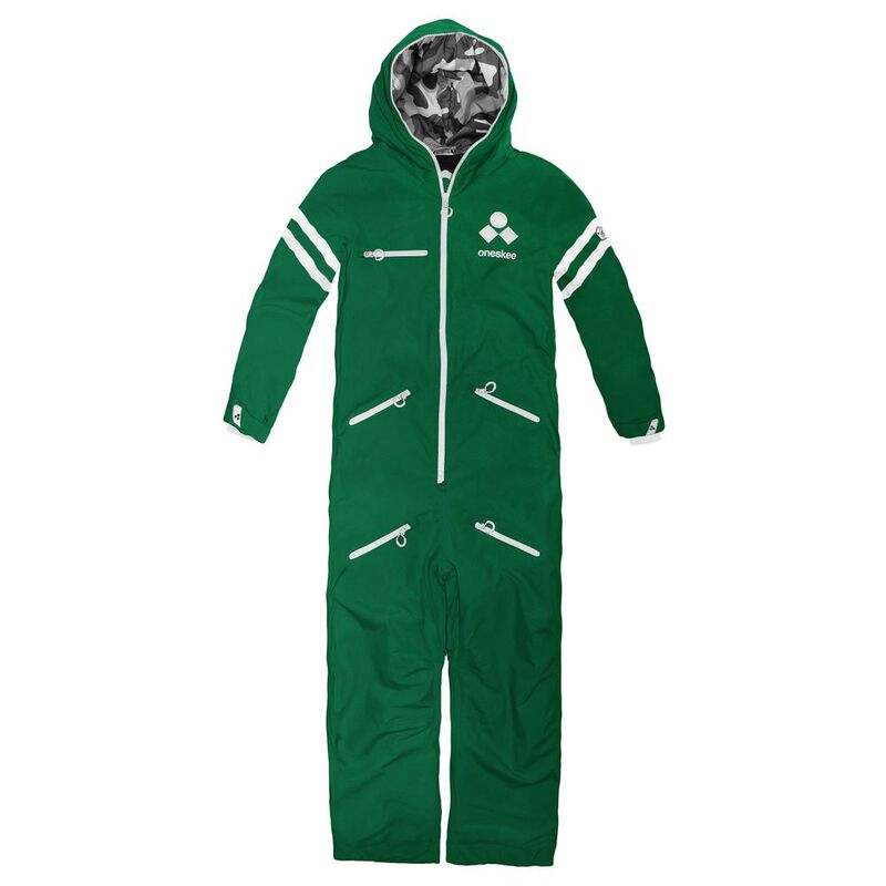 Oneskee Womens All In One Ski Suit (College Green)  9ecf96557