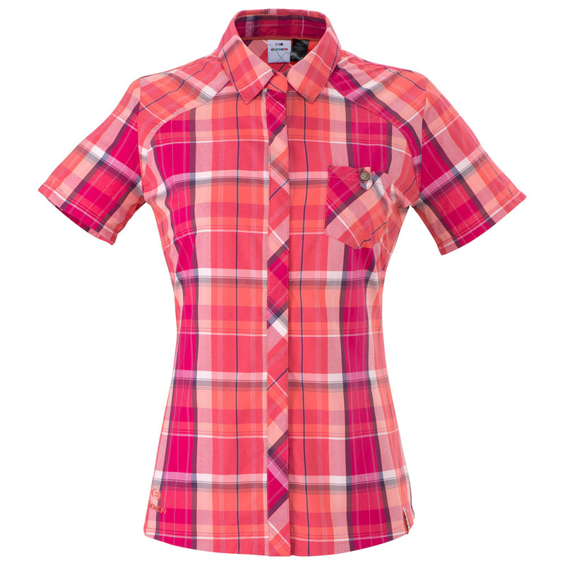 02d0ad61c20962 Eider Womens Bogani Short Sleeve Shirt (Mesa Rose/Fresh Coral ...