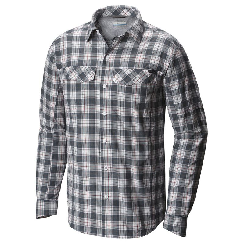 033092646e4 Columbia Mens Silver Ridge Plaid Long Sleeve Shirt (Whale Heather ...