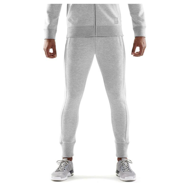 f5add27852cf5 Skins Mens Activewear Linear Tech Fleece Trousers (Silver Marle)   Spo