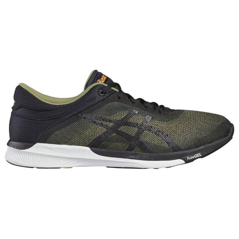 cda571e88d46 Asics Mens Fuzex Rush Shoes (Aloe Black White)