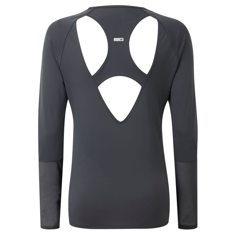 Tribe Sports Womens Open Back Long Sleeve T-Shirt (Pewter)  609a90f76ac