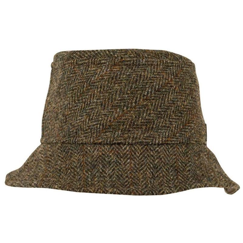 Tilley TTH1HT Harris Tweed Tuckaway Hat (Brown)  12270b8af1f