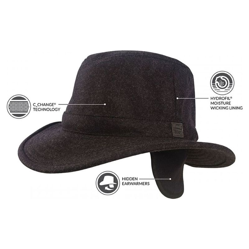 Tilley Tec-Wool Hat (Black Mix)  7a6848803ca