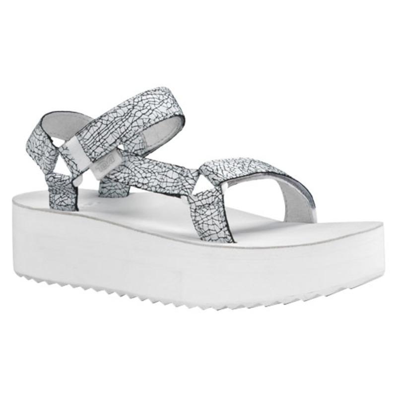 e2223aa53c9 Teva Womens W Flatform Universal Crackle Sandals (White ...