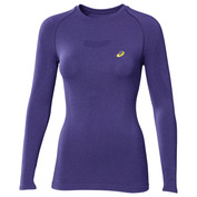 Womens Running Long Sleeve Top (Purple)