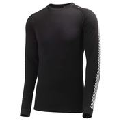 Mens Warm Ice Crew Long Sleeve T-Shirt (Black)
