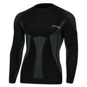 Mens W02 Merino Long Sleeve Top (Black/Grey)