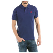 Mens HB Color Polo Shirt (Navy/Red)