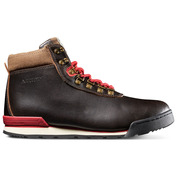 Mens Heritage Waterproof Leather Boots (Java/Red)
