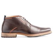 Mens London Leather Shoes (Dark Brown)