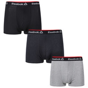 Mens Redgrave Sports Boxers (3 Pack - Black/Charcoal/Grey Marl)